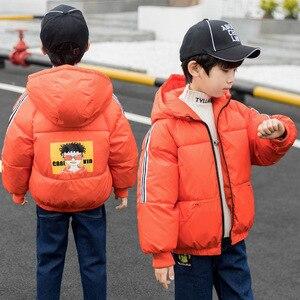 Image 3 - Kinder tragen jungen baumwolle gefütterte jacke neue kinder winter mantel