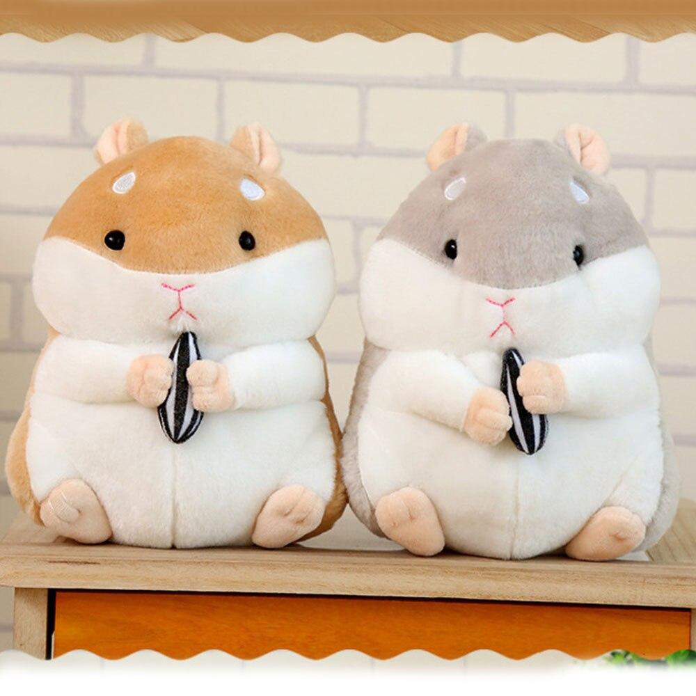Bonito pelúcia hamster macio pelúcia animais de pelúcia brinquedo kawaii bonecas para crianças meninas presentes de natal aniversário decorações casa