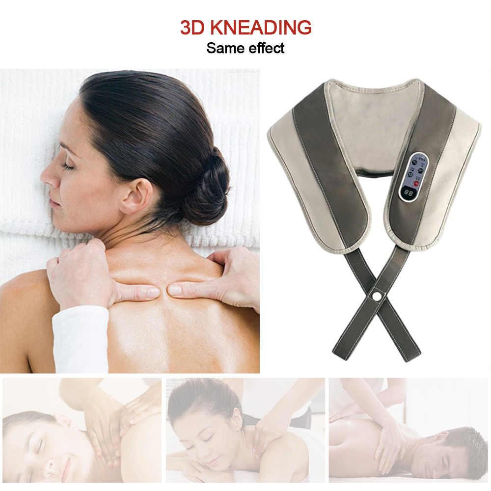 Neck Massager Zurück elektrische Shiatsu muscle Schulter Massage Schal 3D 20 gears kissen Infrarot Beheizten Kneten Auto Hause Massage