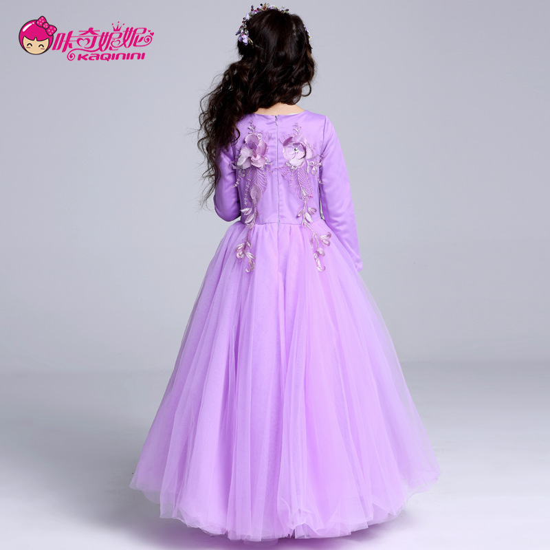 CHILDREN'S Dress Korean-style Princess Dress Dresses Of Bride Fellow Kids Wedding Dress Tutu Piano Performance Host Late Formal