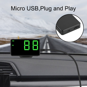Image 2 - Car Head Up Display C60s/C80 Odometer KM/h MPH Car styling Big Fonts LED Display Car GPS Speedometer Altitude Display Projector