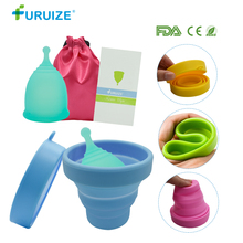 Menstrual Sterilizing Cup with Copa 100% Medical Grade silicone Sterilizer Flexible Clean Recyclable Lady