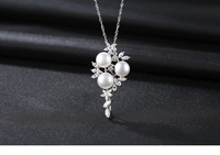 S925 sterling silver necklace pendant freshwater pearl clavicle accessories JSG07