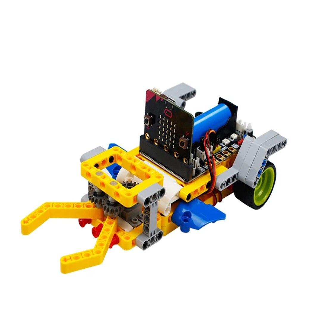 Programm Intelligente Roboter Baustein Auto Kit Verschiedene Formen Dampf Programmierung Bildung Auto Für Micro: Bit Programmierbare Spielzeug - 3