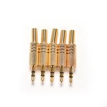 5 sztuk 3.5mm gniazdo Stereo Audio Jack wtyczka Mini 1/8 Cal Jack wtyczka słuchawki wtyk męski kabel koncentryczny Adapter Audio Connecter lutowania