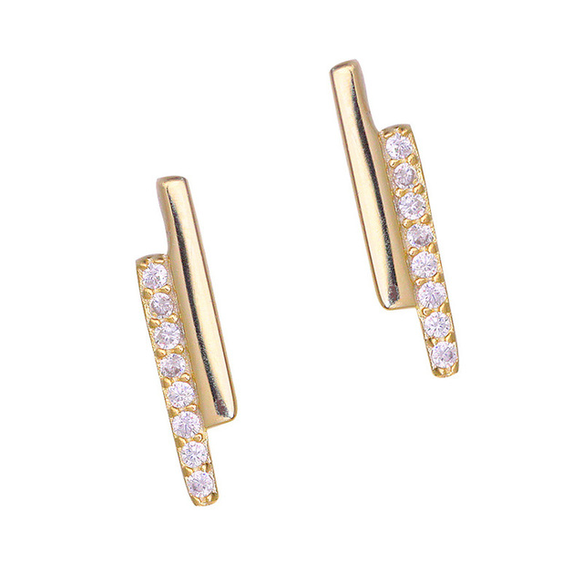 Minimalist Flat Bar Stud Earrings For Women Chic Cubic Zirconia Accessories Gold Silver For Female Jewelry.jpg 640x640 - Minimalist   Flat Bar Stud Earrings For Women Chic Cubic Zirconia Accessories Gold Silver For Female Jewelry