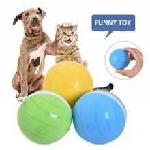Pet Toy Bumper Ball Waterproof USB Electric Pet Ball LED Rolling Flash Ball Fun Interactive Cat Dog Toy magideal horse toy game ball with apple scent pet joy fun horse stable and yard toy