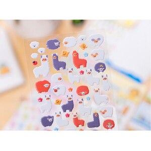 Image 3 - 40 упаковок/Партия Детские Мультяшные корейские милые 3D трехмерные Пузырьковые наклейки четыре выбора для подарков