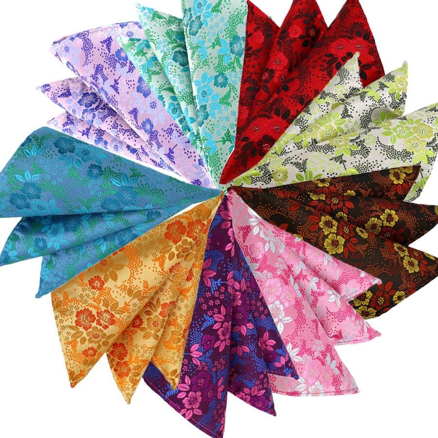 Luxury Mens Pocket Square 25CM Handkerchief Floral Hanky Men Suit Jacquard Chest Towel Accessories For Wedding Business Party