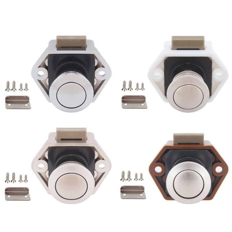 Diameter 20mm Camper Car Push Lock RV Caravan Boat Drawer Latch Button Locks For Furniture Hardware 2