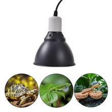 UVB Heating Light EU/US/AU/UK Plug Reptile Heating Lamp Stand Pet Light Bulb Holder Lampshade Emitter Lamp Cover
