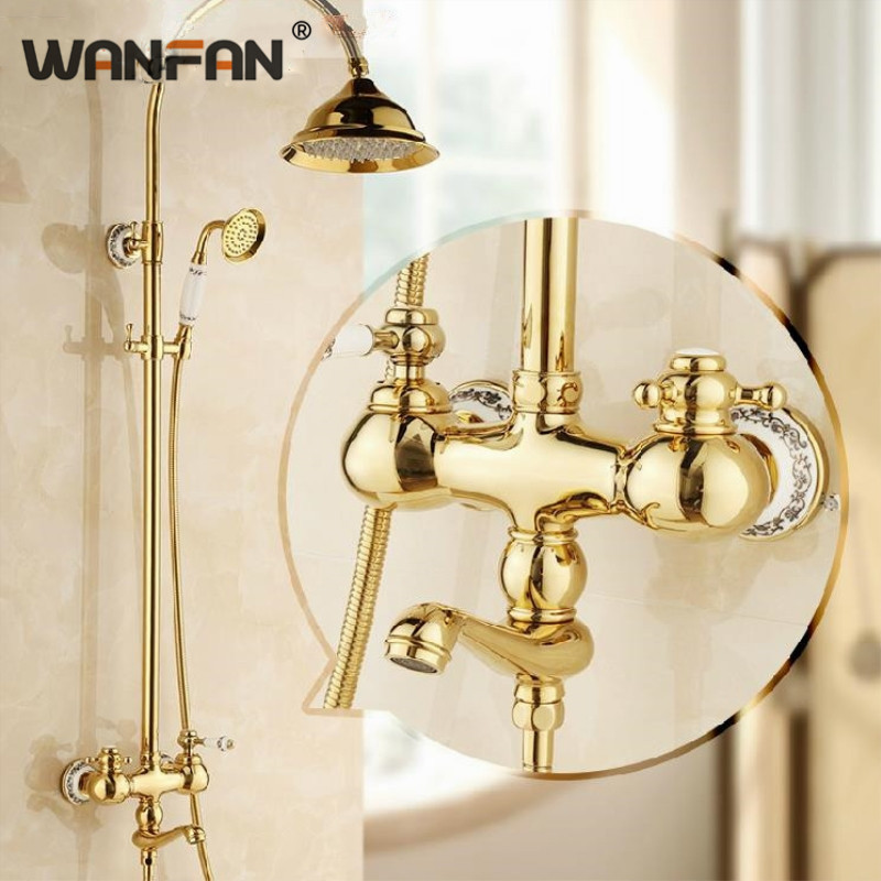 Shower Faucets Gold Bathroom Taps