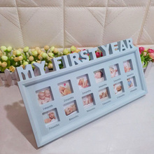 Souvenirs Photo-Frame Growing First-Year-Pictures Baby 0-12-Month Memory Plastic DIY