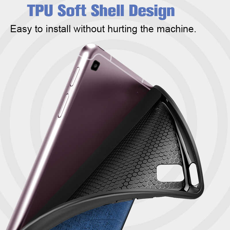 ดินสอกรณีสำหรับSamsung Galaxy Tab S6 Lite 10.4 SM P610 SM P615 ผู้ถือดินสอกรณีปกคลุมนุ่มTPUป้องกันเปลือก/ผิว