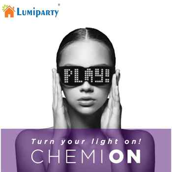 CHEMION Bluetooth LED Glasses Special Atmosphere Sunglasses Dynamic Glowing Light for Nightclub Festival Party Birthday - DISCOUNT ITEM  21 OFF Home & Garden