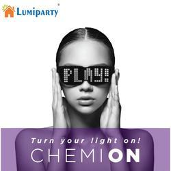 CHEMION, gafas LED con Bluetooth, gafas de sol de ambiente especial, luz brillante dinámica para fiesta de noche, Festival, cumpleaños
