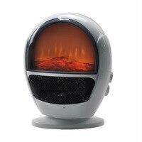 600 w novo aquecedor 3d imitação de cristal carbono chama aquecedor quente e frio pode ser sacudido três segundos velocidade quente branco