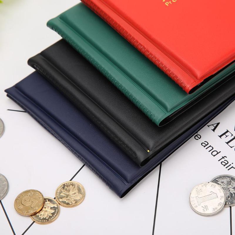 96 листов ПВХ Коллекция монет книга хорошая гибкость прозрачность толстые и плоские Мини Пенни альбом для хранения денег держатель чехол