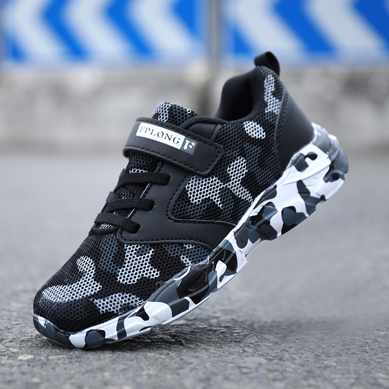 New Camouflage Kids Shoes Boys Sneakers Mesh Breathable Children Sports Sneaker Running Pu Leather Waterproof Girls Casual Shoes