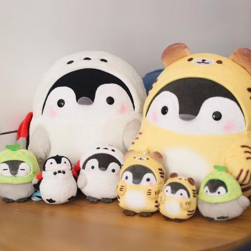 Cute Positive Penguin Peluche Juguetes Brinquedos  Stuffed Animals Panda Plush Pelucia Soft Toys Bag Pendant Doll For Kids Girls