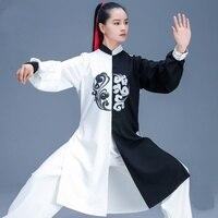 White Black Taichi Suit Martial Arts Suit Kung Fu Clothes Performance Wushu Costume Wing Chun Clothing Tai Chi Uniform FF2243