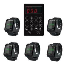 SINGCALL Kitchen Call Waiter System.Chef Call the Number of Customer and Waiter Take the Already Dishes. 5 Watches and One Pager