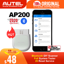 Autel AP200 Bluetooth OBD2 Scanner Code Reader Full System Diagnostic Tool diagnostic scanner PK MK808 easydiag 3.0 ThinkDiag