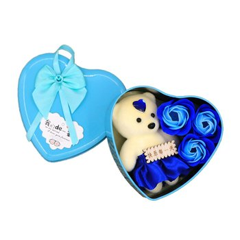 Valentine'S Day Present Soap Rose Bear Valentines Day Gift Wedding Party Decoration Birth Day Gift Box Flower