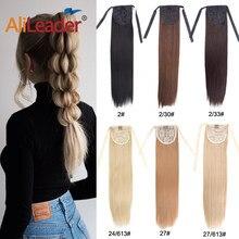 Alileader-extensiones de cabello sintético para mujer