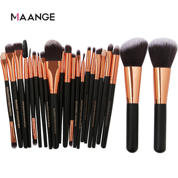20/22Pcs Beauty Makeup Brushes Set Cosmetic Foundation Powder Blush Eye Shadow Lip Blend Make Up Brush Tool Kit MENGSHANG MAANGE