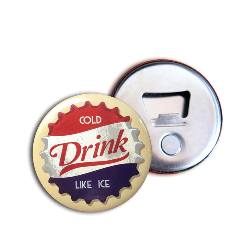 Image 3 - 50x Personalized Fridge Magnet Magnetic Bottle Opener Corporate  Gift Custom Logo Bottle Opener Button Magnet 58mm 2.25 Diameterbottle  openerbottle opener personalizedmagnetic bottle opener