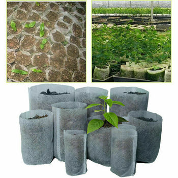 Biodegradable Nursery Bags Plant Grow  Bag Pouch Seedling Pots Non-Woven