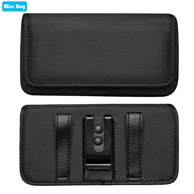 Universal Phone Pouch <font><b>Case</b></font> For <font><b>Samsung</b></font> galaxy Note 10 Plus Note 9 8 S9 S8 Plus S7 Cover <font><b>Flip</b></font> Holster Belt Oxford Cloth Waist Bag image