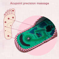 Massage Slippers Striped Reflexology Acupuncture Sandals Foot Acupoint Shoes for Women Men TY53