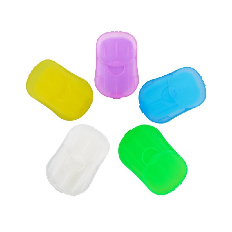 20шт% 2FBox Случайный Цвет Путешествие Портативный Одноразовый Мини В коробке Мыло Бумага Сделать Пена Аромат Ванна Мытье Руки Бумага Мыло