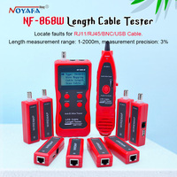 Top Quality NF 868W Lan Tester Lan Cable Tester UTP Cable Tester Tester For RJ45/RJ11/BNC/USB English Version NF_868W