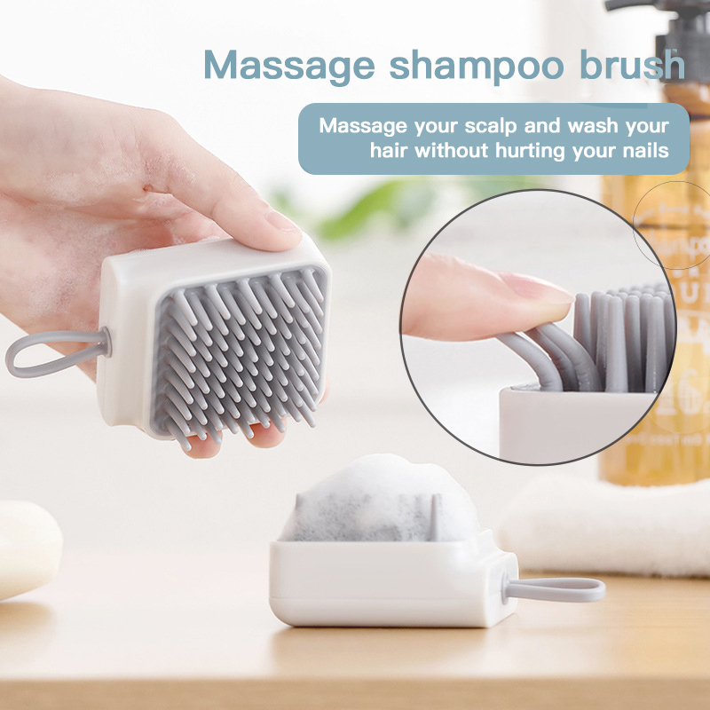 1 Pc Silicone Hair Brush for Head Scalp Massager Hair Washing Bath Spa Slimming Shampoo Brush Hair Care Comb Health Care Tool