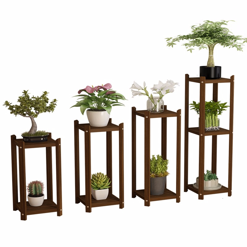 Wood Flower Airs Multi-storey Indoor Balcony A Living Room Storage Green Luo Flowerpot Botany Frame Woodiness Single Household