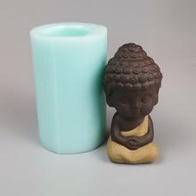 4 styles 3D Buddha Silicone molds 3D Buddha soap mold handmade Buddha statue porcelain mould baking decorative tools