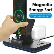 11gen 14Pins Magnetische Laders Voor Huawei Supercharge Sikai 5A Draadloze Snel Opladen Voor Iphone 12 Dock Station Stand Usb C