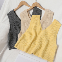 Sweater Vests Pullovers V-Neck Loose Winter Fashion Sleeveless HELIAR Stretchy