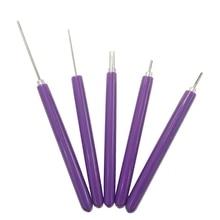 Горячая XD-5 в 1 инструменты для квиллинга, 5 шт. различных размеров инструменты для квиллинга с прорезями бумажные наборы для квиллинга ручной работы рулонные щипцы для квиллинга