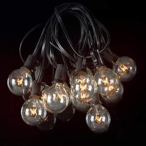 Image 5 - 50 unids/lote 25 ft G40 luces de cadena de globo con bombillas UL listadas para fiesta boda jardín patio pérgola