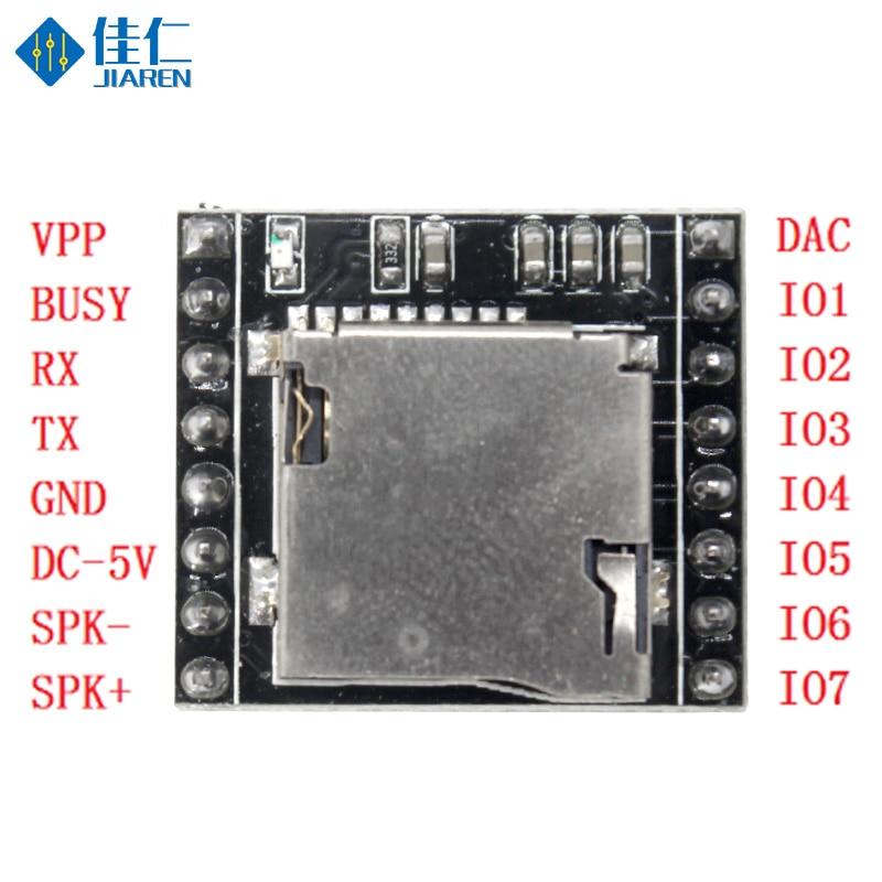 DFPlayer Mini MP3 Player Module MP3 Voice Decode Board MP3 Voice Module U-Disk IO/Serial Port With TF Card For Voice Prompt