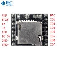 Mini mp3 player módulo de voz placa de decodificação mp3 módulo de voz u-disk io/porta serial com cartão tf para prompt de voz