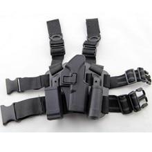 Funda táctica de pierna derecha para muslo, bolsa para linterna, para Glock 17 19 22 23 31 32
