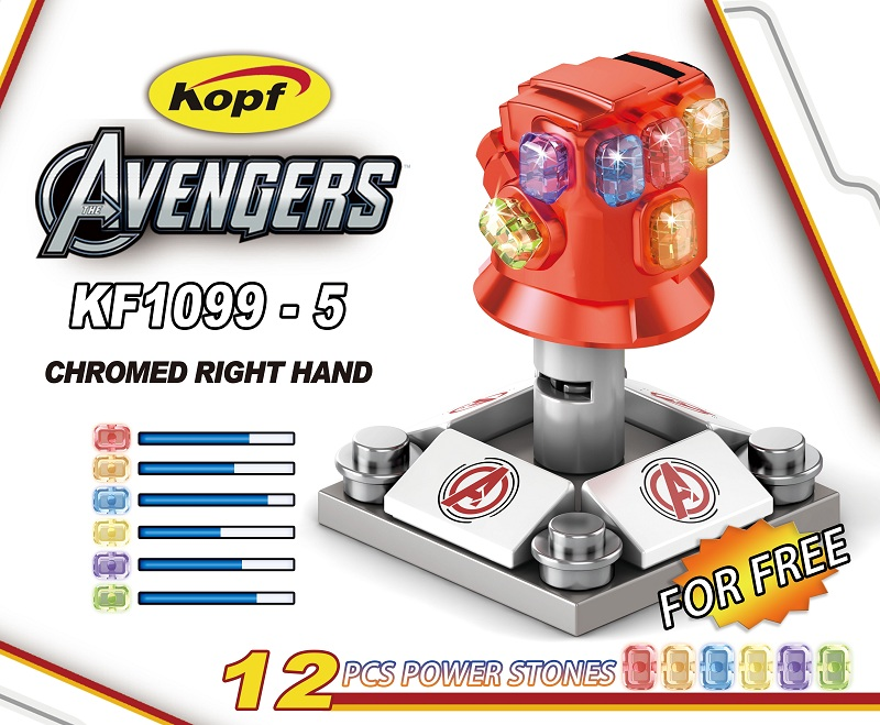 Building Blocks Avengers 4 Thanos Gloves Chromed Infinity Gauntlet With Power Stones Action Figures Kids Gift Toys KF1099-5 image