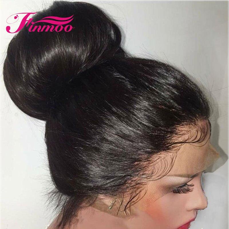 13X4 13x6 prosto koronki przodu włosów ludzkich peruk Indian Remy włosy Pre oskubane z dzieckiem włosy bielone węzłów dla kobiet w kolorze naturalnym w Peruki z ludzkich włosów na siatce od Przedłużanie włosów i peruki na AliExpress - 11.11_Double 11Singles' Day 1