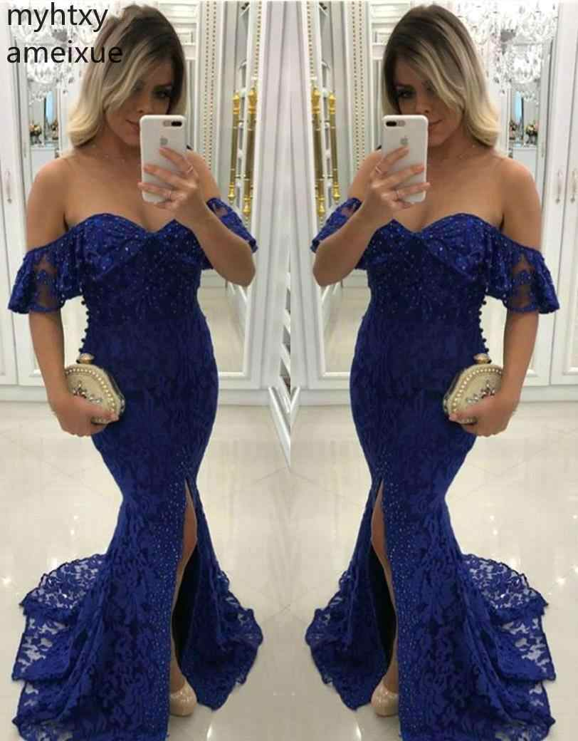 Christmas Sweeps 2020 2020 New Arrival Christmas Navy Blue Evening Dress Sweetheart