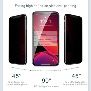 Image 4 - Baseus 0.3mm Screen Protector Tempered Glass For iPhone 11 Pro Max Anti Peeping Protective Glass Film For iPhone Xs Max Xr X 11